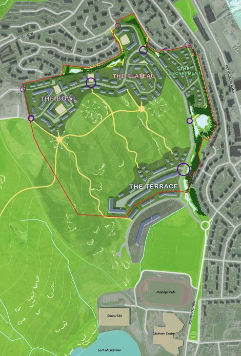 Plans for the first phase of housing at Staney Hill.