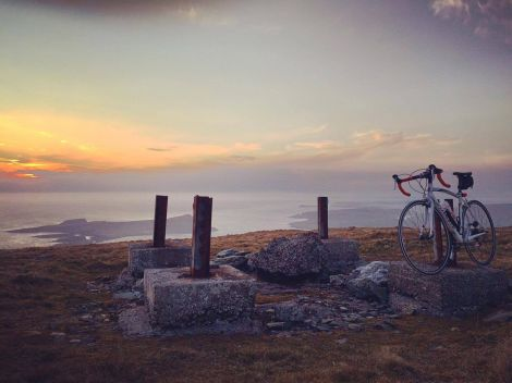 A rewarding view awaits cyclists who make it to the top of Mossy Hill above Scousburgh. Photo: Robert Wishart