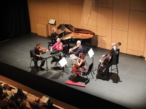 Musical ensemble Mr McFall's Chamber's risk paid off at Mareel on Saturday night. Photo: Shetland News/Alex Garrick-Wright.