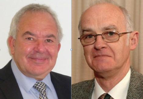 NHS Shetland chairman Ian Kinniburgh and IJB chairman Cecil Smith
