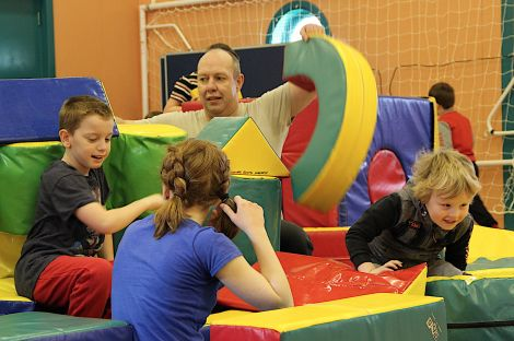 Play worker Shaun Harnett helps running the Easter break youth clubs held throughout the isles - Photo: Hans J Marter/ Shetland News