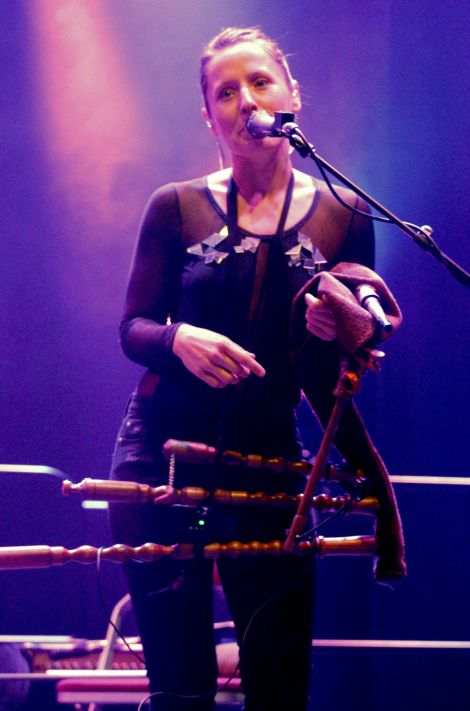 Trad.Attack!'s Sandra Vabarna. Photo: Yetti Biscuit/Shetland News