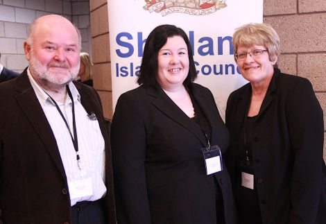 Shetland North councillors Alastair Cooper, Emma MacDonald and Andrea Manson.