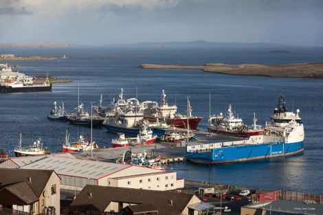 Busy times at Mair's Quay, Lerwick Port Authority's new pier. Photo: LPA