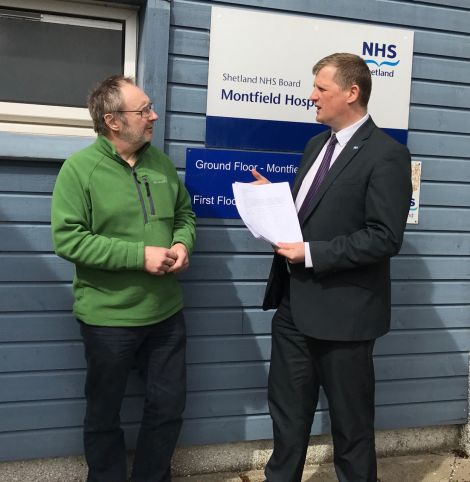 Roberts explaining that the health board has listened to public opposition and will discuss patient travel again at a meeting on Tuesday 23 May.