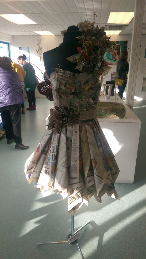 There are a number of striking designs at the college exhibition. Photo: Patrick Mainland