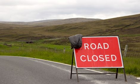 The road between East Burrafirth and Aith will remain closed on Tuesday. Photo: Hans J Marter/Shetland News