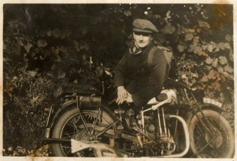 Joe Gray snr during his journey across the length of Britain in the 1930s. Photo: Courtesy of ZMCC