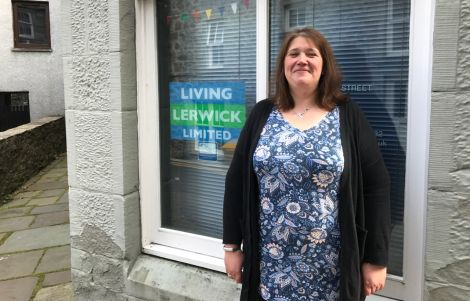 Living Lerwick's BID manager Christena Irvine. Photo: Neil Riddell/Shetland News