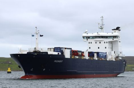 NorthLink freight boat Hildasay.