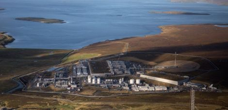 Shetland Gas Plant started production in February 2016. Photo: Total