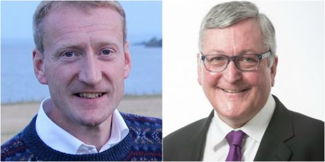 Shetland MSP Tavish Scott (left) has again criticised the Scottish Government after rural economy secretary Fergus Ewing (right) confirmed loans will be paid to farmers and crofters.