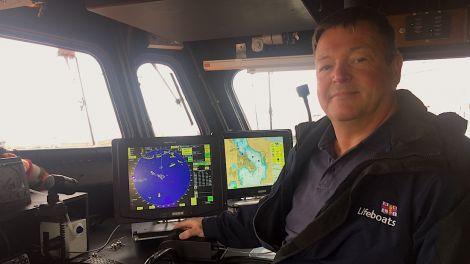 RNLI senior engineer Wayne Shilson on board Lerwick lifeboat on Wednesday. Photos: Hans J Marter/Shetland News
