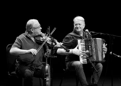 Aly Bain and Phil Cunningham delivered another night of mirth and music at Mareel on Friday. Photo: Dale Smith.
