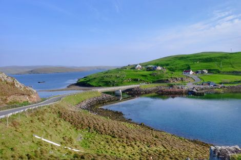 The Muckle Roe bridge. Photo courtesy of Shetland Islands Council.
