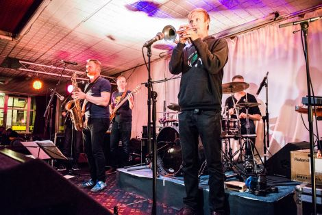 Newcastle's King Bee brought things to a close in style at the Legion on Saturday night. Photo: Steven Johnson