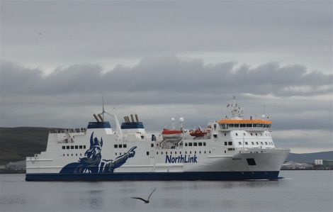 The Hrossey boat. Photo: Hans J Marter/Shetland News