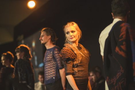 Cally Mair at the fashion show during the opening ceremony.
