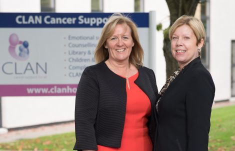 Clan chief executive Dr Colette Backwell (left) and Loganair's commercial director Kay Ryan. Photo: Loganair