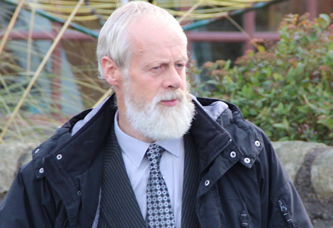 Robert Simmons outside Lerwick Sheriff Court on Wednesday. Photo: Shetland News
