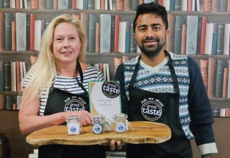 Shetland Sea Salt business partners Kaye Sandison and Akshay Borges hope to be able to move to larger premises soon.