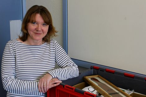 Headteacher Valerie Nicolson has been packing up her office ahead of the big move. Photo: Chris Cope/Shetland News