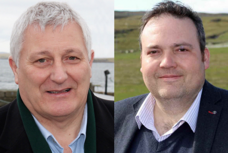 Highlands and Islands list MSP John Finnie (Greens) and Jamie Halco Johnston (Conservatives).