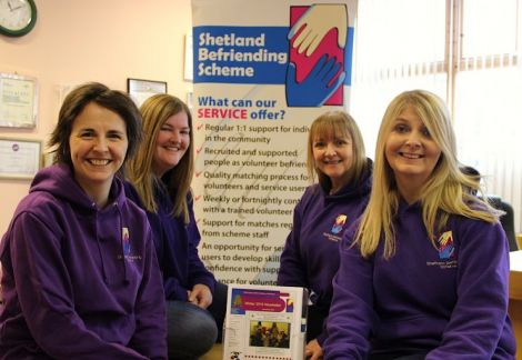 Shetland Befriending Scheme was one of the local charities benefiting from the Children in Need initiative - Photo: Shetland News.