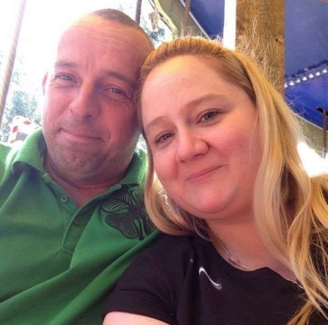 Nicola Stove and her husband Magnus, who was flown to Aberdeen for emergency surgery after his accident.