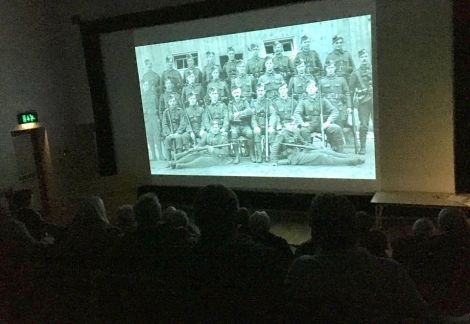 History teacher Jon Sandison who gave a lecture on the Battle of the Ancre. Photo: Courtesy Shetland Library