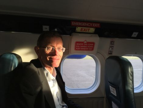 """Travel expert Simon Calder, seen here flying with Loganair to Glasgow, said he was """"mystified"""" that Flybe didn't take advantage of summer months."""