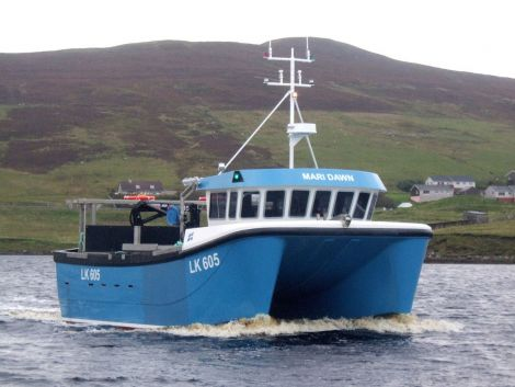 The Mari Dawn shellfish boat. The SSMO currently has over 100 licensed fishers.