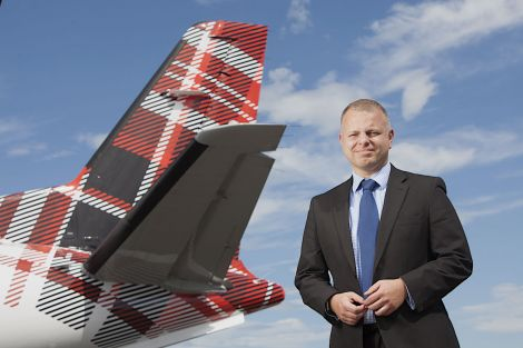 Loganair chief executive Jonathan Hinkles: 'successful transition from franchise partner to operating under our own brand'. Photo: Loganair