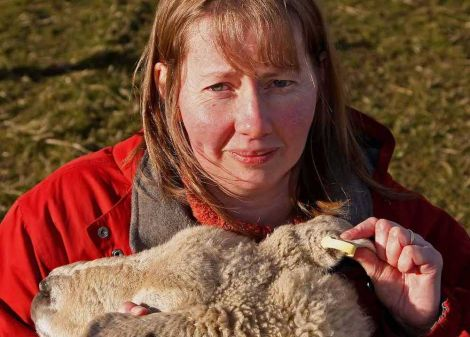 Cunningsburgh crofter Hazel Mackenzie is lobbying for a new farming policy