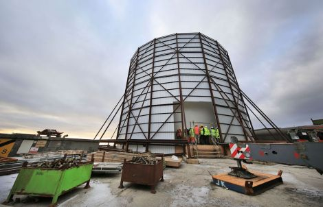 The new early warning radar at Saxa Vord. Photo: RAF
