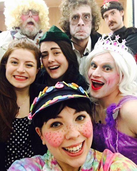 The Imposters had time for a quick selfie. Photo: Shetland Comedy/The Imposters