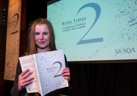 Anderson High pupil Rona Learmonth. Photo: SQA