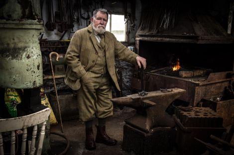 Cobbler, farrier, tailor. Bruce Wilcock, Hillswick.