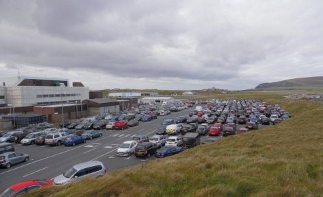 Sumburgh Airport car park.