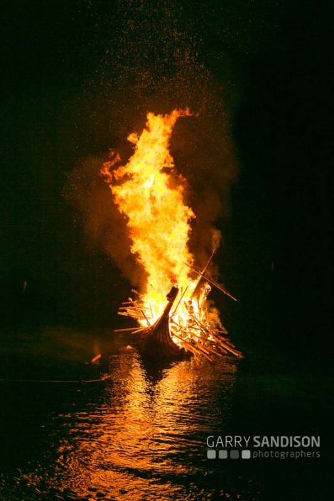 It was a beautiful night for a galley burning. Photo: Garry Sandison