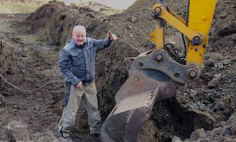 Pizzeria entrepreneur Henry MacColl is confident to have the eatery open before Christmas. Photo: Hans J Marter/Shetland News