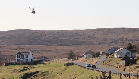 The coastguard assisting the search for Lorraine on Thursday. Photo: Hans J Marter/Shetland News