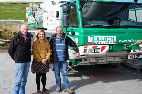 Tulloch Development directors George Smith (left) and Frank Tulloch with Mind Your Head project manager Anouska Civico.