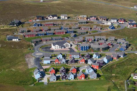 The Hjaltland Housing Association affordable homes scheme at Quoys, Lerwick.
