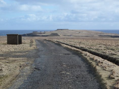 The potential site at Lamba Ness in Unst.