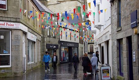 Commercial Street is Lerwick's main shopping street.