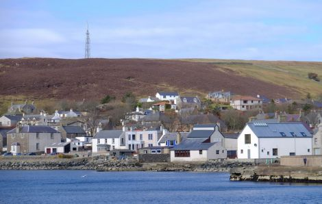 The Scalloway waterfront. Photo: SIC