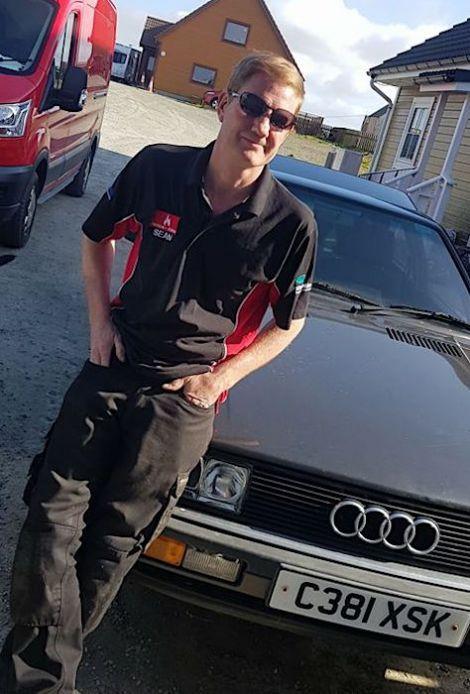 Sean Fillingham with his irreplaceable 1985 Audi Quattro.