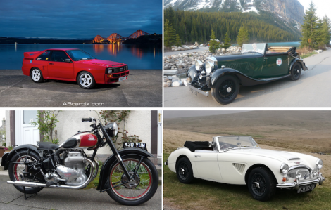 Some of the vehicles on show at next month's Shetland Classic Motor Show.