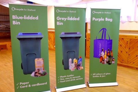 The council's recycling banners